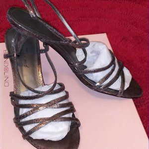 Strappy Metallic Lulu Townsend Shoes